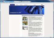 Internetseite von Analytical Services North