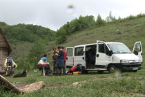Dreharbeiten in Rumänien