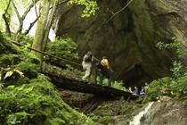 Dreharbeiten zu Höhlenfilm